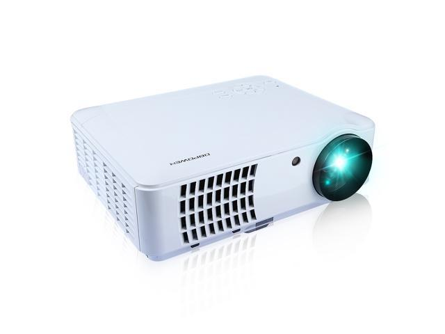 HD 1080P Multimedia(2*USB+2*HDMI+VGA+AV) Projector,16:9/4:3 Wide 5.8 Inch LCD Projector System, Good for Home Entertainment/ School/ Business