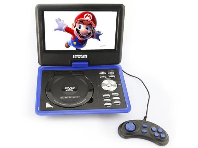 Ship frome US 9.5'' Portable 16:9 180? Rotating Swivel Screen CD VCD DVD Player + Built-in stereo speakers - Blue