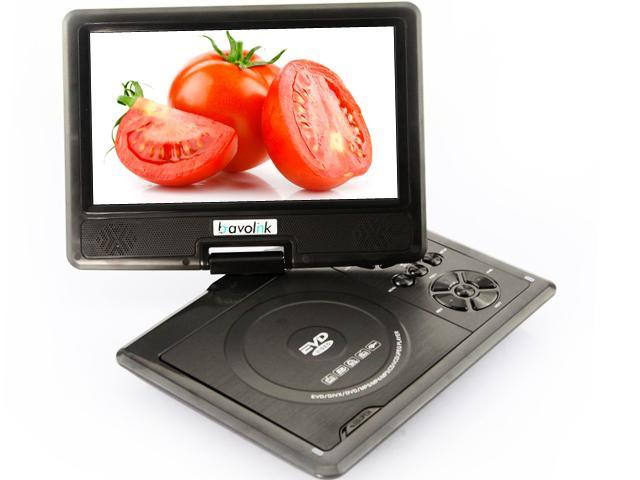 Ship frome US 9.5'' Portable 16:9 180° Rotating Swivel Screen CD VCD DVD Player + Built-in stereo speakers (958)- Black