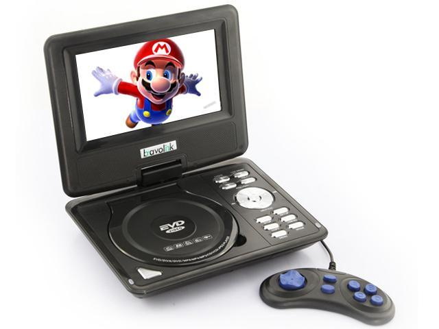 Ship frome US 9.5'' Portable 16:9 180° Rotating Swivel Screen CD VCD DVD Player + Built-in stereo speakers - Black