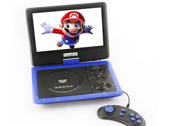 Ship frome US 9.5'' Portable 16:9 180? Rotating Swivel Screen CD VCD DVD Player + Built-in stereo speakers (958)- Blue