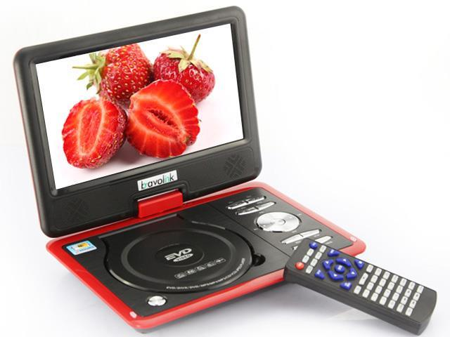 9.5inch Handheld Portable DVD Player with FM USB Card Reader Radio (300)games Swivel (9.5 Red)