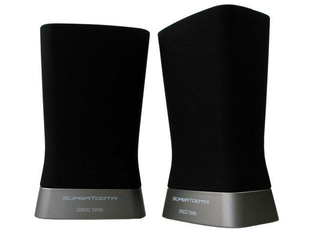 SuperTooth Z004120E Disco Twin A2DP Bluetooth Stereo Speaker Pair - Speakers - Retail Packaging - Black