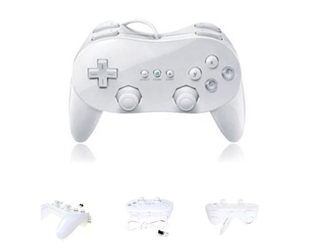 NEW WHITE 2X Classic Controller Pro for Nintendo Wii Remote
