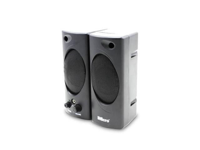 New iMicro 2.0 Channel Plastic Multimedia Speaker System (Black)