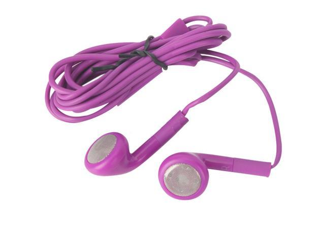 New Stereo 3.5 mm Earphone Headphones with Mic for Apple iPhone 5c 5s Purple