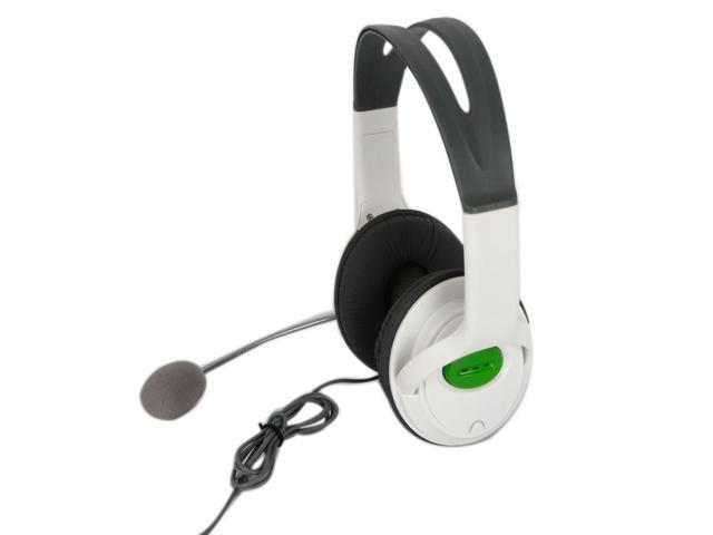 Live Headset W/MIC Microphone Big for Game Xbox360 Xbox 360 Controller White
