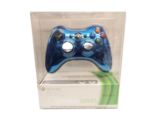 Official Microsoft Xbox 360 Special Edition Chrome Wireless Controller BLUE NEW