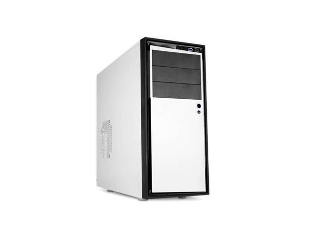 NZXT SOURCE 210 ELITE No Power Supply ATX Mid Tower Case (White)