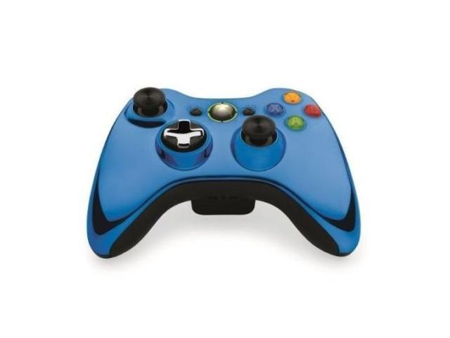 Official Microsoft Xbox 360 Special Edition Chrome Wireless Controller BLUE NEW!
