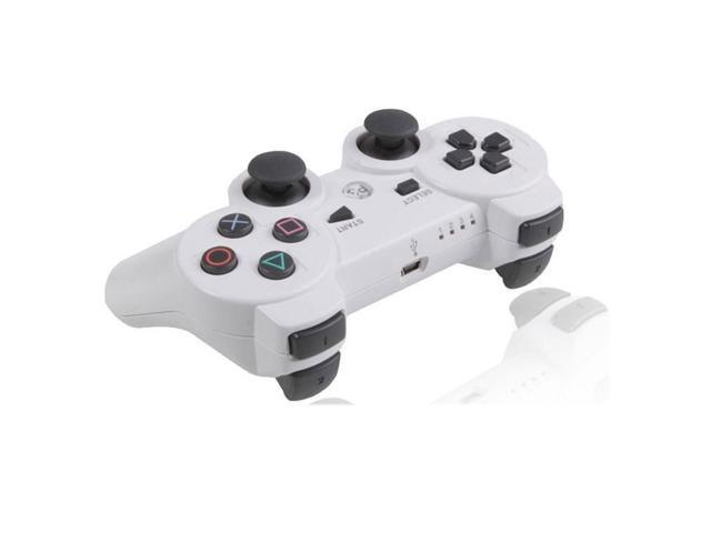 White Wireless Bluetooth Double Vibration Game Gaming Controller For Sony PS3