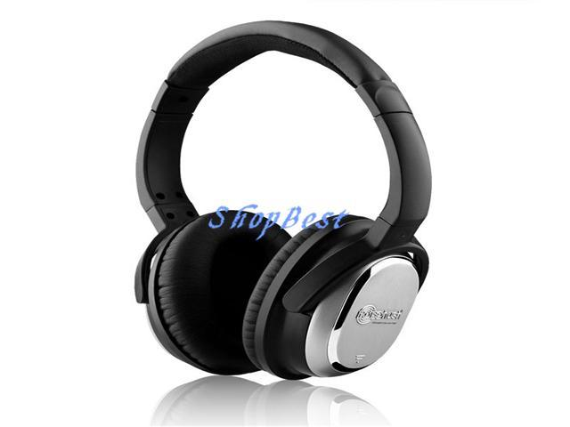 NoiseHush i7 Active Noise-Cancelling Headphones with In-Line Microphone - Black