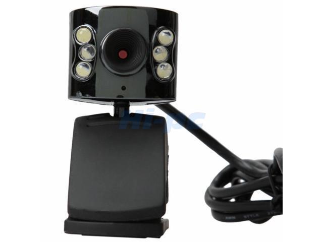 2Pcs 5 Pixel USB 6 LED Camera Mic Webcam For Laptop PC