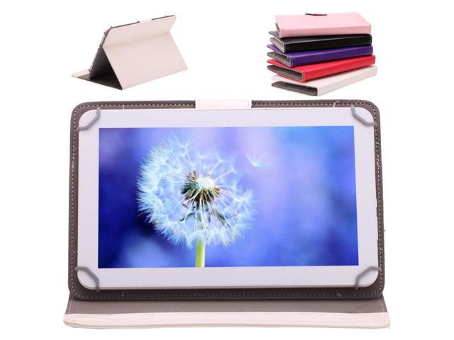 IRULU 10 1 16GB Android 4 4 Quad Core White Tablet Bluetooth 3 0 GPS FM HDMI w PURPLE Case