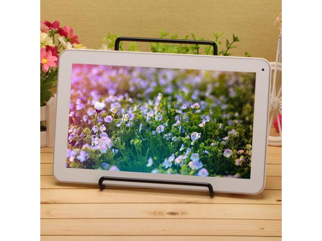 IRULU X1 10 1 Android 4 4 Quad Core White Tablet Bluetooth 3 0 GPS FM HDMI w BLACK Holder