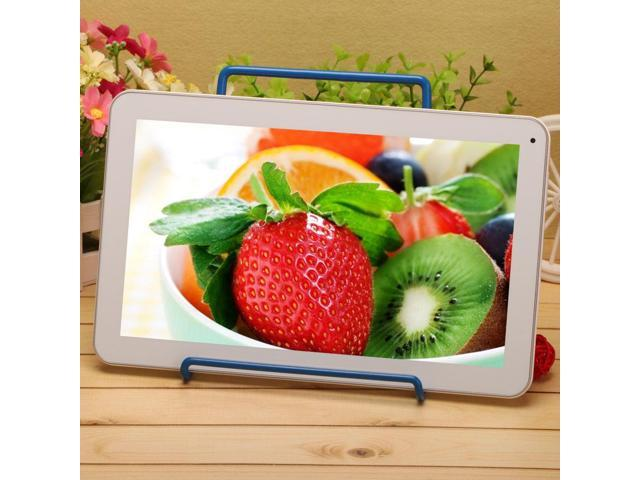 IRULU X1 10 1 Android 4 4 Quad Core White Tablet Bluetooth 3 0 GPS FM HDMI w BLUE Holder