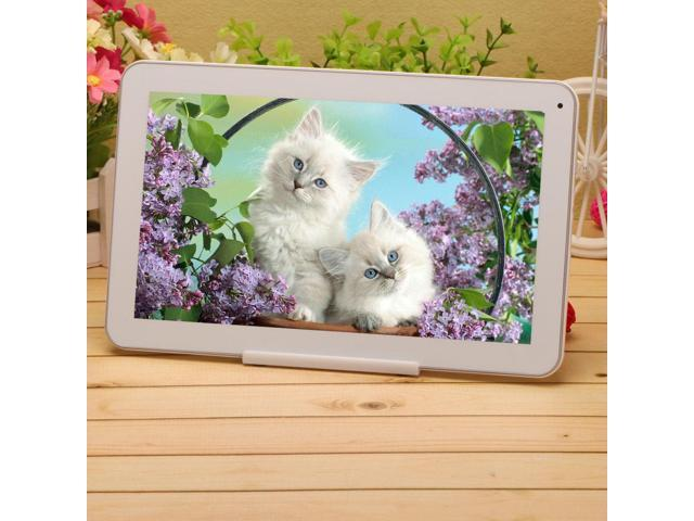 IRULU X1 10 1 Android 4 4 Quad Core White Tablet Bluetooth 3 0 GPS FM HDMI w WHITE Holder