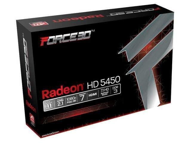 Force3D HD 5450 AMD ATI Radeon 2GB PCI Express x 16 Video Graphics Card HMDI DVI