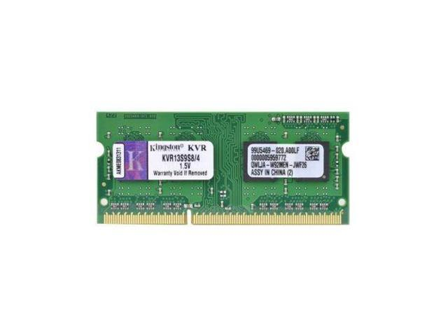 Kingston KVR13S9S8/4 DDR3-1333 PC3-10600 SODIMM 4GB 204-pin CL9 Laptop Memory 4G