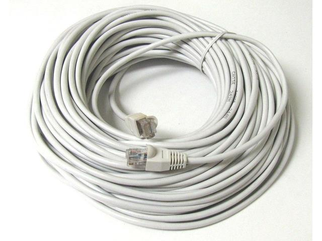 100FT 100 FT RJ45 CAT5 CAT 5 HIGH SPEED ETHERNET LAN NETWORK WHITE PATCH CABLE