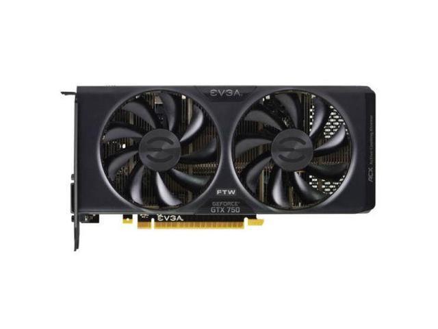 EVGA NVIDIA GeForce GTX 750 FTW 2GB GDDR5 DVI/HDMI/DisplayPort pci-e Video Card