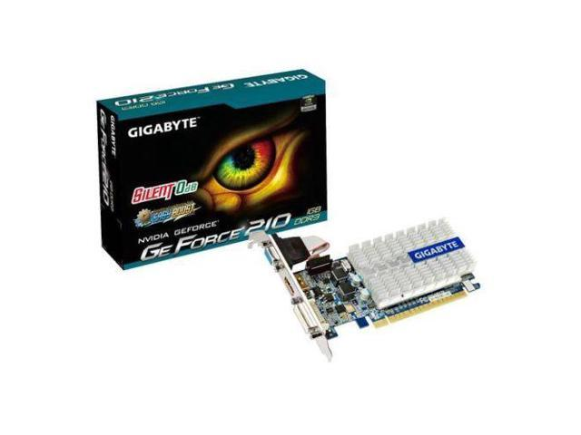 GIGABYTE NVIDIA GeForce 210 1GB GDDR3 VGA/DVI/HDMI PCI-Express Video Card