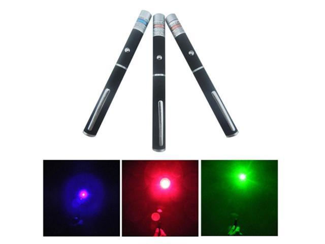 High Power 5mw 3 Color Red + Green + Blue Purple Laser Pointer Pen Beam Light