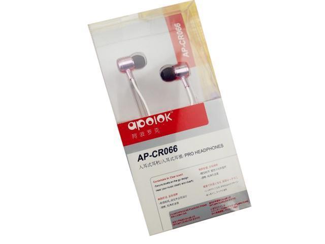 Apolok C066 Metal In-Ear Earphones 3.5mm Red Darkblue Black Lightred