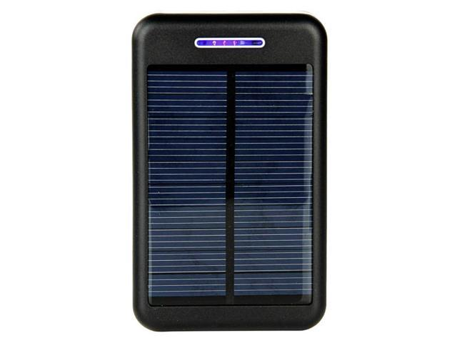 13800mAh Solar Charger Battery Power Bank For iPhone Smartphone - Black