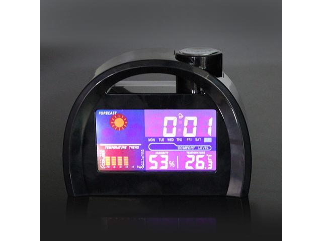 LED Weather Station Forecast Temperature Calendar Alarm Clock