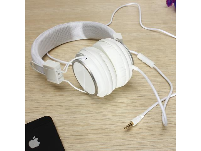 3.5mm Earphone Over-Ear Headphone W/ Mic for iPhone iPod PC Cellphone MP3/MP4 PC/notebook Adjustable
