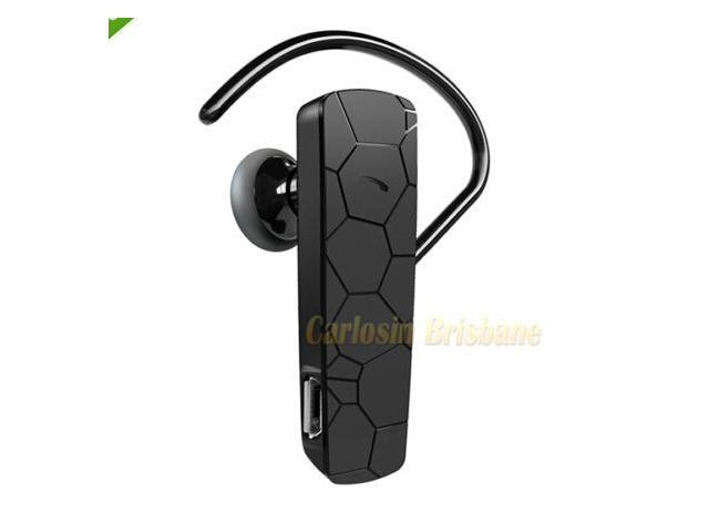 Universal Earpiece Bluetooth Wireless Headset Stereo + Ear Hook + USB Cable for Cellphone Apple iPhone