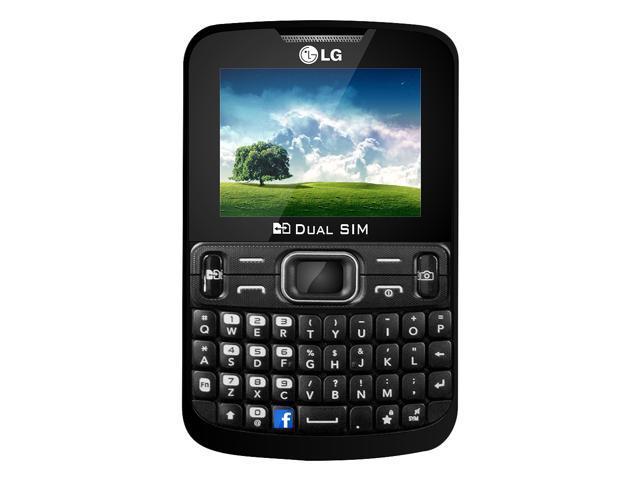 LG C297 Unlocked GSM Quad-Band Dual SIM Phone with QWERTY, Camera and Bluetooth (Black)
