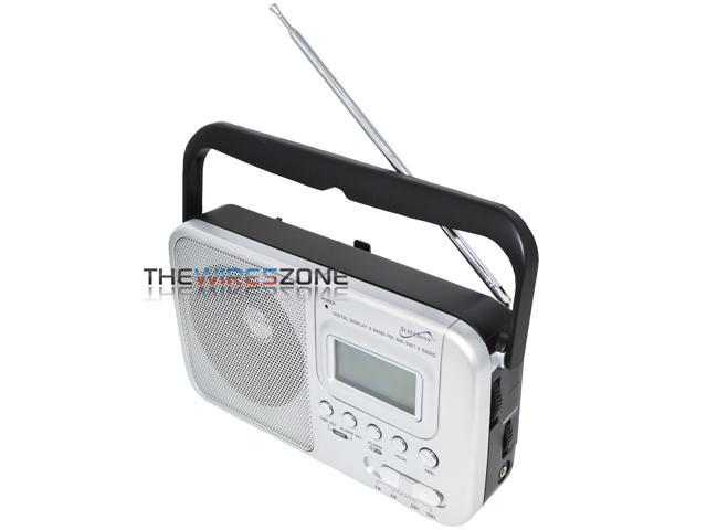 Supersonic SC-1091 4-Band AM/FM/SW Radio with Digital LCD Display and Alarm Clock