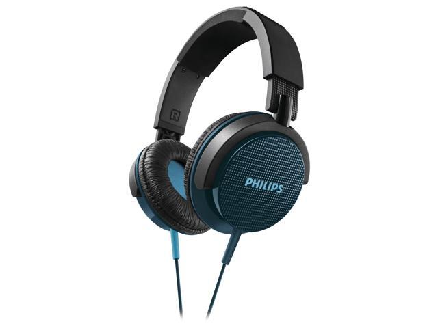 Philips SHL3100MBL Blue Dynamic Solid Bass 1500mW Foldable DJ Stereo Headphones