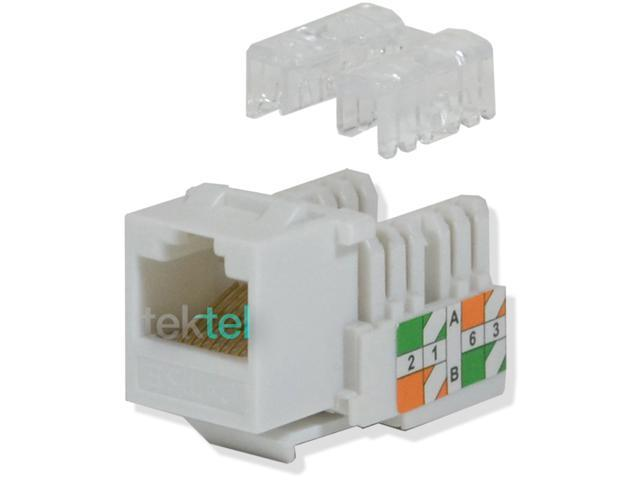 CAT5E White Network Ethernet 110 Punchdown 8P8C Keystone Jack (20/pack)