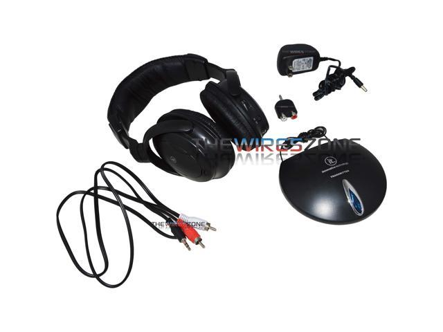 Innovative Technology ITHW-858 VHF Wireless Headphones for TV/MP3/Computer
