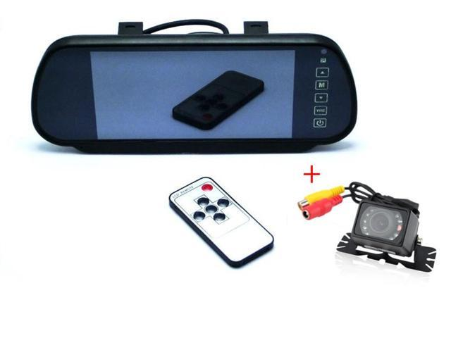 7-Inch 16:9 TFT Color LCD Widescreen Car Rear View Monitor with Touch Button + Waterproof Car Rear View Camera