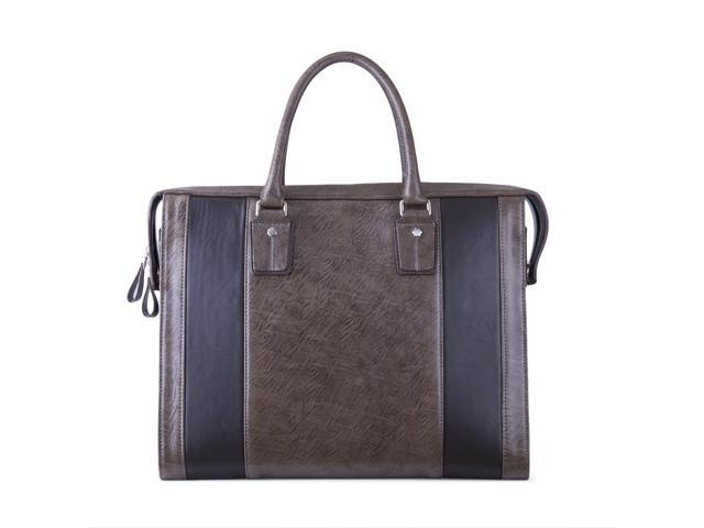 Leather Briefcase Work Bag for Laptop and iPad or Tablet, Large, Antiqued Brown