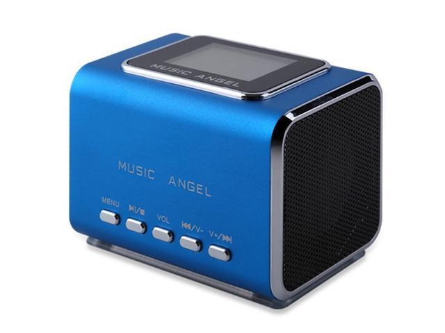 Music Angel MD05X Mini Multimedia Speaker Digital Speaker LCD Screen FM SD/TF Slot USB Speaker for Tablet PC Phone