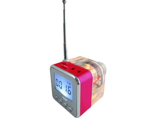 NiZHi TT-028 Crystal Mini Music Speaker LED Digital Portable Speaker for Android Tablet PC Phone Laptop with MP3 FM Radio U-disk SD/TF Card