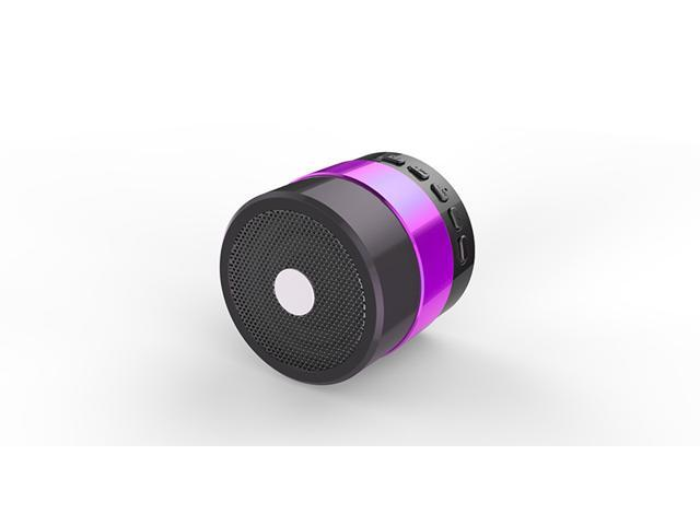 Purple Portable Mini Bluetooth Super Subwoofer HiFi Speaker Micro SD/TF Card USB Disk Music Player NiZHi SDY-001 FM Radio for iPhone Samsung PC