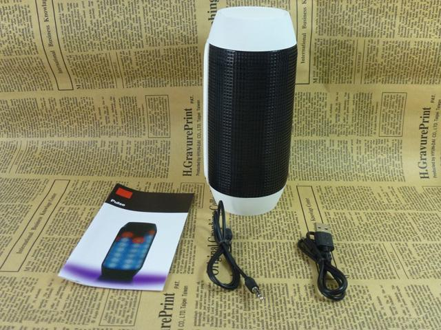 Portable Pulse Wireless Bluetooth Speaker Support NFC Colorful 360 LED Lights U-disck and TF Card Outdoor Speaker