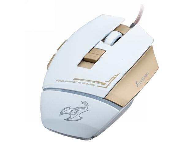 Sunsonny 007 1600DPI 5 Button USB Wired Gaming Mouse (White)