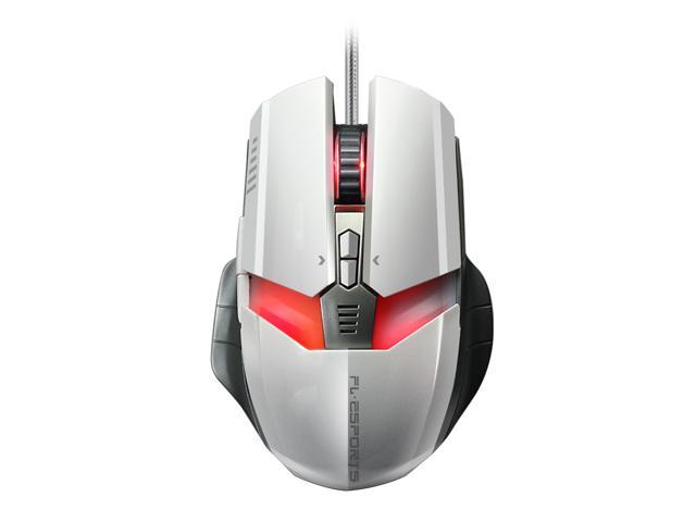 Merdia FL·ESPORTS 500-2000DPI 6 Button 7 LED Colors Professional Ergonomics Wired G60 Gaming Mouse (White)