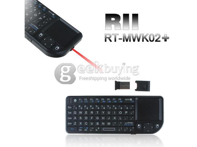 Geek Buying RII RT-MWK02+ wireless touch pad keyboard mouse laser pointer TPU keys