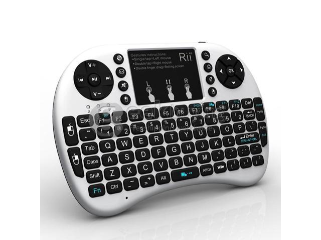 Geek Buying Rii i8+ 2.4G Wireless Mini Keyboard for Android Smart TV, TV Box, HTPC, PC with Multi-touch up to 15 Meter