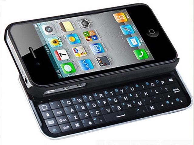 Sliding Bluetooth Wireless Keyboard Hardshell Case for Apple iPhone 4 4G 4S 4GS - OEM