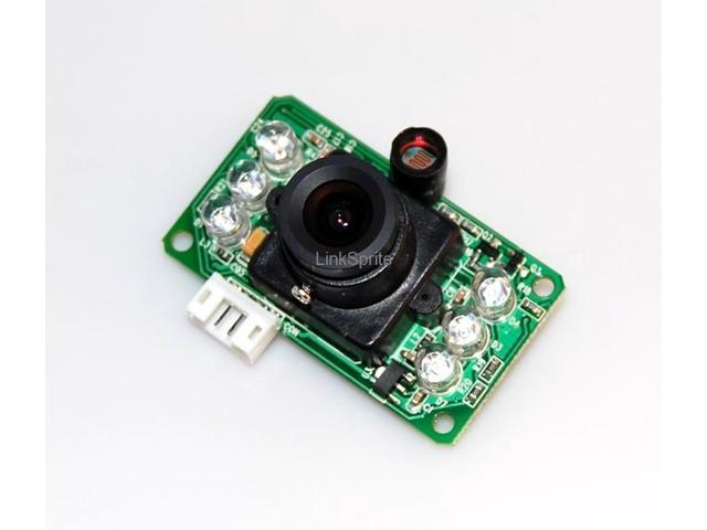 JPEG serial camera with infrared , RS232 cable Mini level