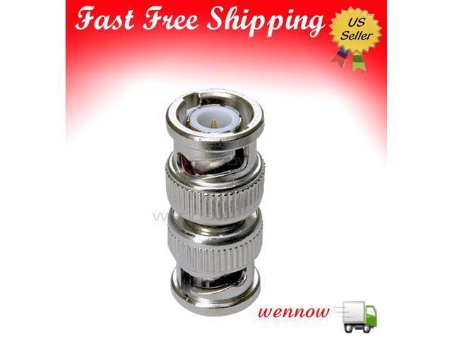 WennoW 1 BNC Male to 1 BNC Male Connector -for CCTV Camera / DVR - Silver